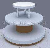 Modern 3 Tier White Round Island Display Rack (SZ-WDR030)