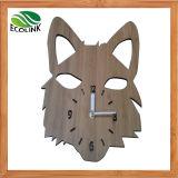 Animal Shape Bamboo Wall Clock