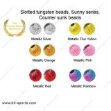 Sunny Series Slotted Tungsten Beads Counter Sunk Beads Fly Tying Beads-Metallic Color 08A-014 8