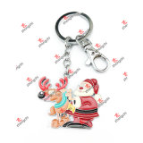 Wholesale Metal Santa Claus Charms Christmas Keychains Gifts (SCK50911)