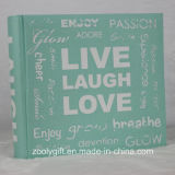 "4X6 "" Linen Fabric Photo Album with Silk Screen Printing Slogans"