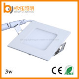 3W LED Square Ceiling Lamp 90lm/W AC85-265V Panel Lighting Down Lights