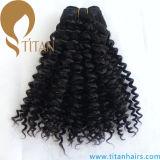High Quality Black Curly 100% Virgin Human Hair Weft