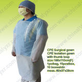 Ly Disposable CPE Surgical Gown with Thumb Loop