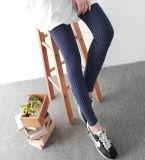 New Style Ladies Outer Wear Strip Cotton Pencil Pants (20222-1)