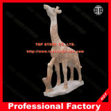 Deer Marble Statue for Home or Garden Decoration