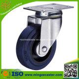 Industry Swivel Blue Elastic Rubber on PP Wheels Castor