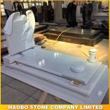 High Quality Cheap White Marble Angel Tombstone