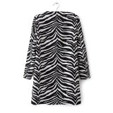 Factory OEM 2015 High Quality Zebra Print Winter Women Coat