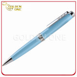 Lady Gift Metal Twist Ball Pen with Crystal Decoration