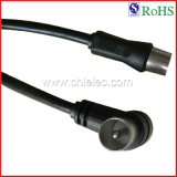 RoHS Compliant Black 3c2V TV Audio Video Cable (SY090)