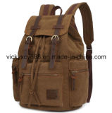 Double Shoulder Laptop Leisure Canvas Shopping iPad Bag Backpack (CY5920)