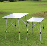 Solid Folding Table, Portable Aluminum Picnic Table