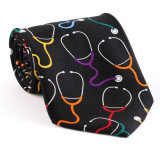 100% Silk Polyester Custom Made Fancy Printed Necktie (NT-014)