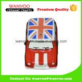 Ceramic Cartoon Car with Customized Decoration UK National Flag