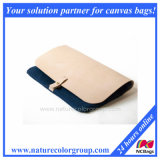Clutch Purse -Waxed Canvas, Leather Navy
