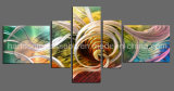 Abstract Handmade Metal Wall Hanging Art with 3D Effect (CHB801702)