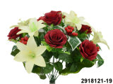 Artificial/Plastic/Silk Flower Rose/Lily Mixed Bush (2918121-19)