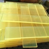 Yellow Transparent Color Polyurethane Sheet, PU Sheet Made
