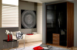 UV Black Lacquered Wardrobe Closet with 3 Drawers (HF-EY071)