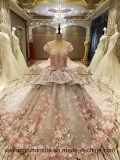 Zipper Back Beaded Organza Ball Gown Evening Dress