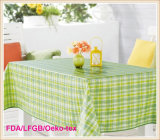 PVC Printed Tablecloth with Flannel Backing (TJ0099)
