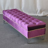 Modern Tufted Fabric Bed Long Bench Stool (SP-ES117)
