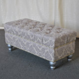 Luxury Decorative Upholstered Padded Foot Stool (SP-ES106)