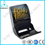 19 Piece 1-10mm Tin Coated HSS Twist Drill Bit Set