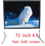 72 Inch Fast Folding Screen Projector Screen Family Business Office