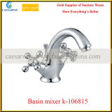 Cross Dual Handle Basin Faucet Tap with Acs Approved for Bathroom