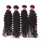 100% Virgin Deep Wave Human Hair Bundles Natural Black Hair Weft