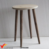 Light Brown French Retro Vintage Round End Table
