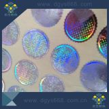 Laser Silver Color Hologram Sticker with Numbers Printing