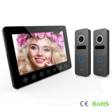7 Inches Doorbell Home Security Interphone Video Door Phone Intercom