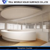 Curved 100% Pure Acrylic Solid Surface Hotel Reception Commercial Reception Counter