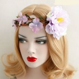 Bohemian Style Wreath Flower Crown Wedding Garland Forehead Hair Head Beach Wreath
