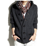 Collar Ment′s Sweater/Knitting Coat Man Sweater Coat with Buttons
