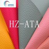 1.2mm Cross PVC Artificial Leather Fabric for Women′s Handbag