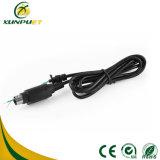 Round Black USB Pin Data Computer Power Printer Cable