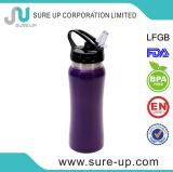 Hot Selling Portable Durable Single Wall Stainless Steel Sport Bottles with Straw Lid