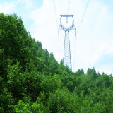 500kv Cat Head Type Angle Power Transmission Steel Tower
