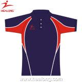 Full Dye Sublimation Men Slim Fit Polo Shirt Sports Wear