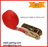 "1"" X 20′ 500lbs Polyester Red Endless Ratchet Strap"