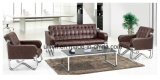 Elegant Office or Lobby or Lounge Area Leather Sofa (NS-S403)