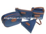 Fashion Navy Canvas Cosmetic Set (KCC140)