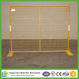 Cost Effective Yellow Powder Coated Used Temporary Fence