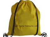210d Yellow Polyester Nylon Drawstring Bag Backpack