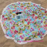 Wholesale 100% Cotton Round Printed Beach Towel with Tassels