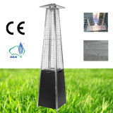 Glass Tube Outdoor Pyramid Gas Patio Heater (steel, black)